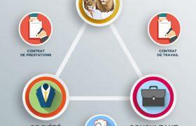 Une infographie du portage salarial par Portagez-Vous