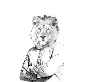 dessin de lion