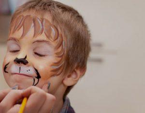 enfant maquillage lion